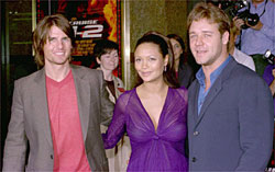 Tom Cruise, Thandie Newton et Russell Crowe